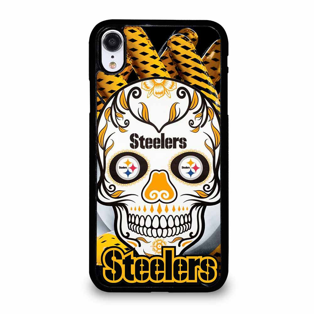 PITTSBURGH STEELERS SKULL iPhone XR case