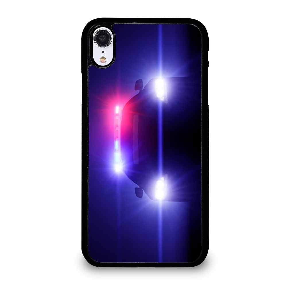 POLICE CAR LIGHTS iPhone XR Case