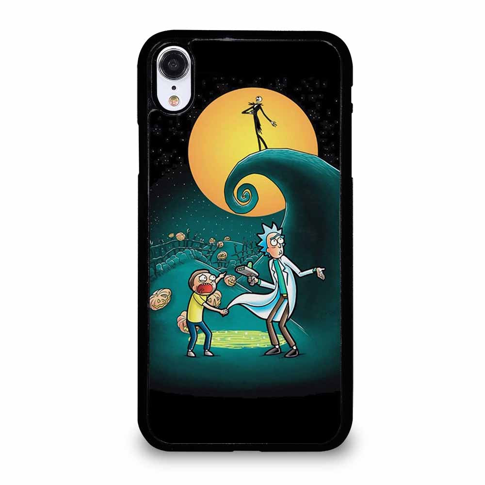 RICK AND MORTY PORTAL NIGHTMARE BEFORE CHRISTMAS iPhone XR case
