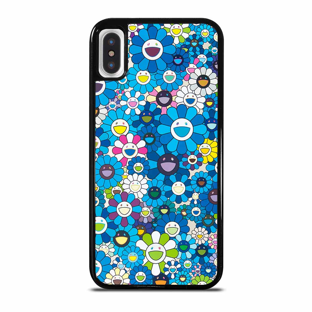 TAKASHI MURAKAMI BLUE FLOWERS iPhone 5/5S/SE 6/6S 7 8 Plus X/XS Max XR Case