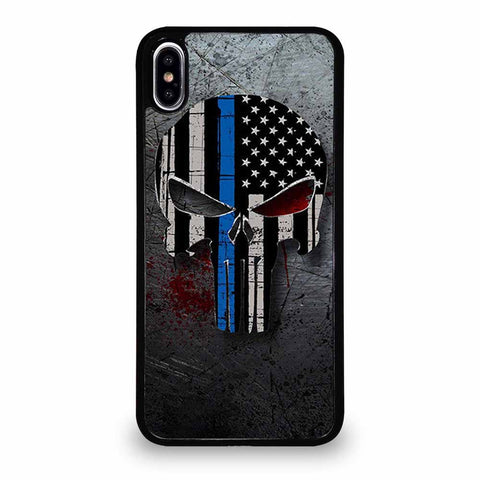 THIN BLUE LINE FLAG PUNISHER iPhone XS Max case