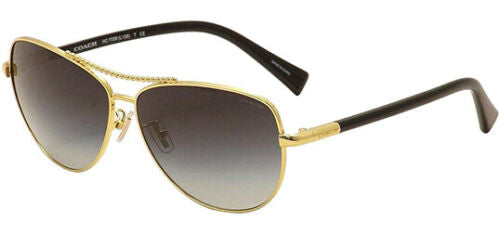Coach Sunglasses Aviator HC7058 924611 (Condition: Scratched Lens)