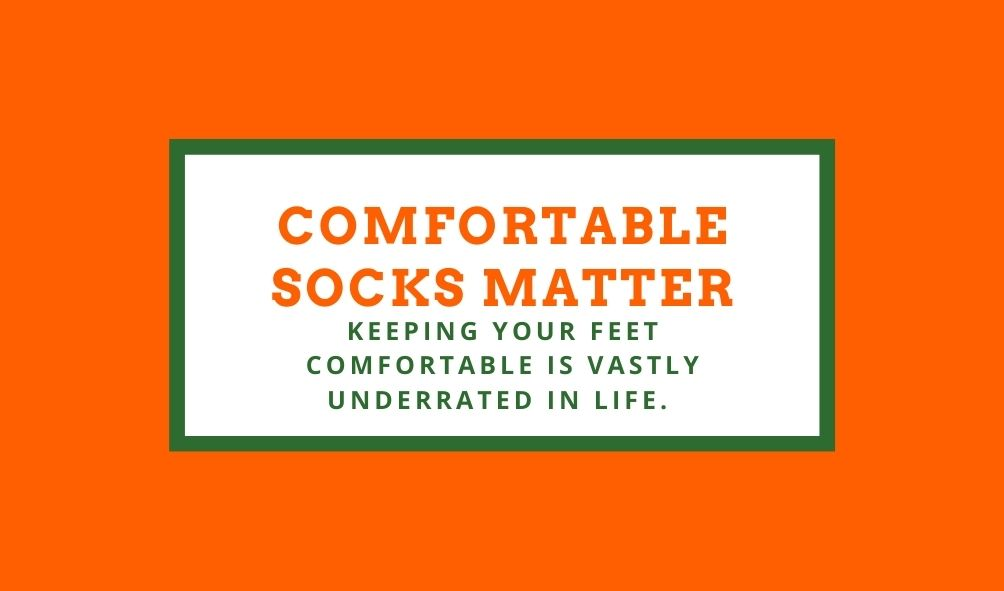Socks not only look good, but can help you feel good.