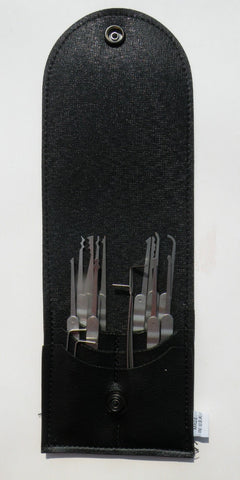 16-Piece Laminated Ripple Handle Lock Pick Set
