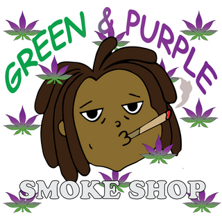 Green And Purple Smoke Shop