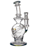 "Diamond Glass ""Rigception"" Showerhead Perc Incycler Blue with Included Bowl"