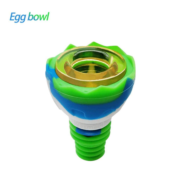 Egg Silicone Glass Bowl