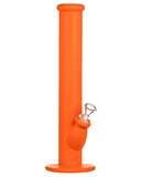 "Orange 14"" Silicone Straight Tube Bong"