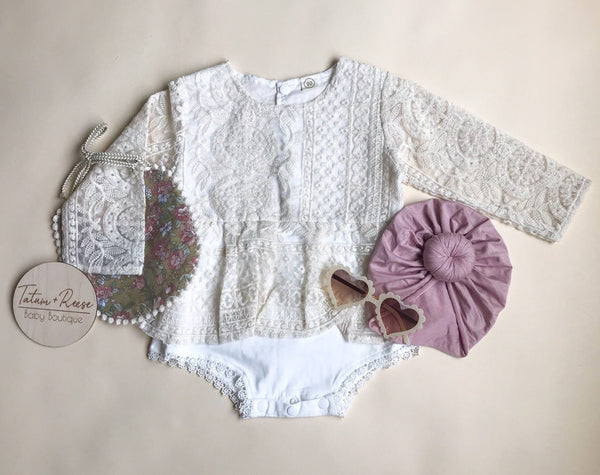 Heavenly Lace Romper