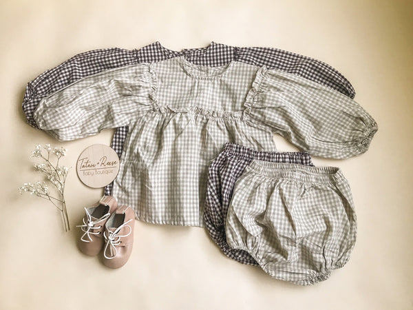 Gingham Bloomer Set