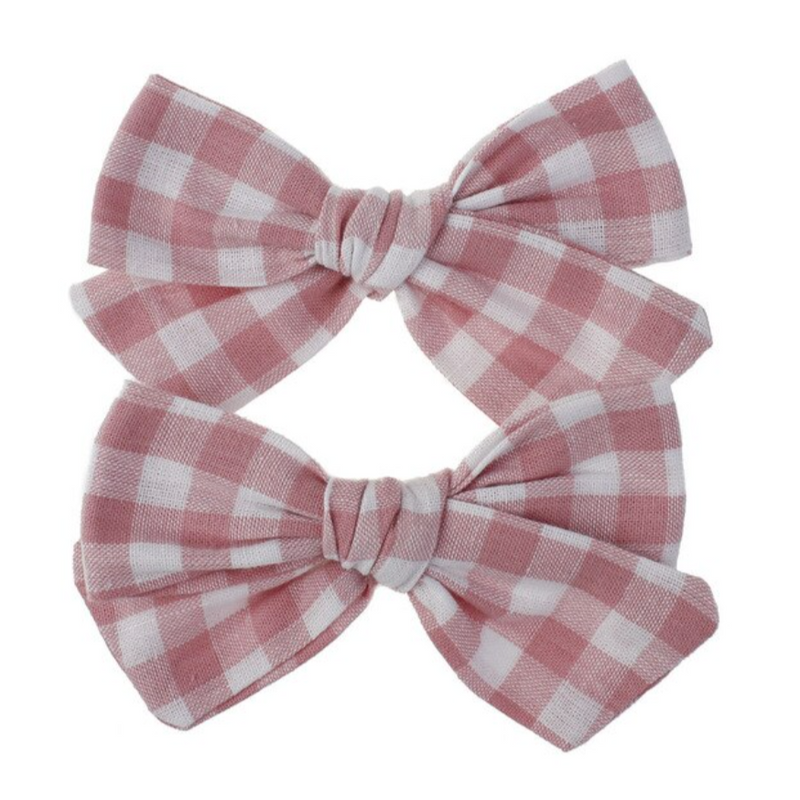 Plaid Bows in Pink
