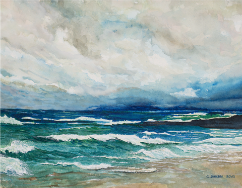 Gary Johnson Watercolor Superior Storm