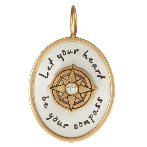 Heather B. Moore Let Your Heart Be Your Compass Oval Charm