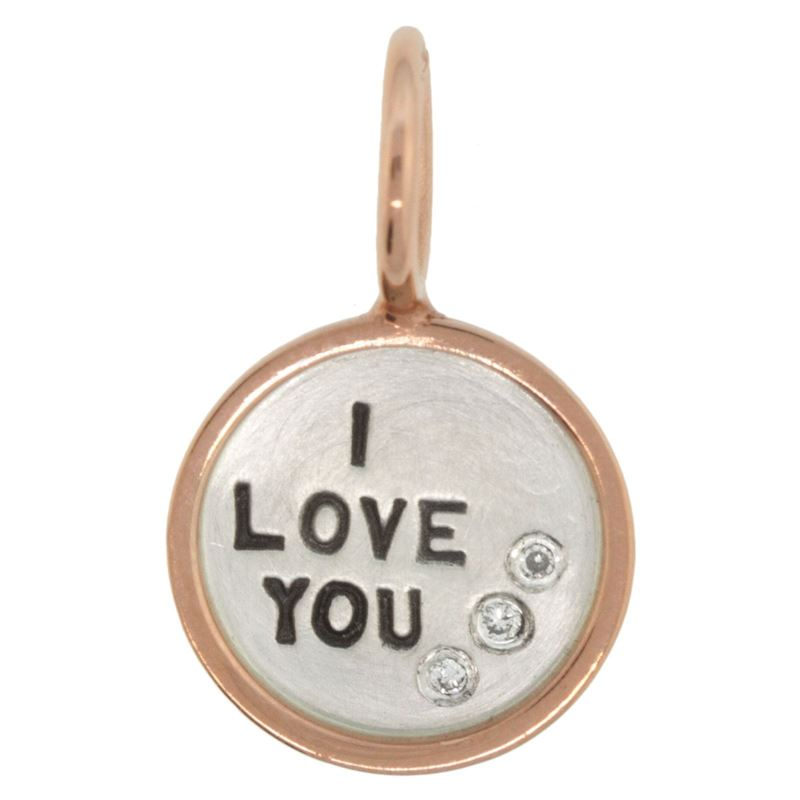 Heather B. Moore I Love You Round Charm