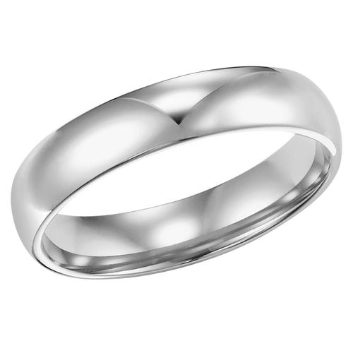 4mm Comfort Fit Low Dome Wedding Band, Polished
