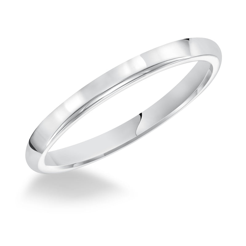 14K White Gold 2.5mm Ring Comfort Fit
