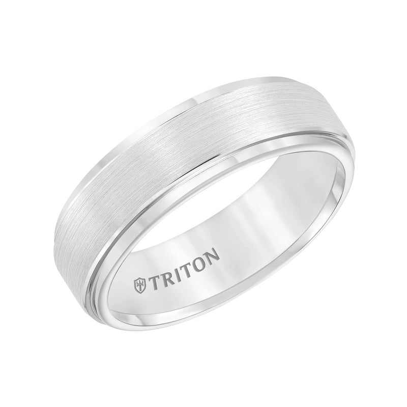 7mm CF wtc Step Edge Graytungsten Carbide Band