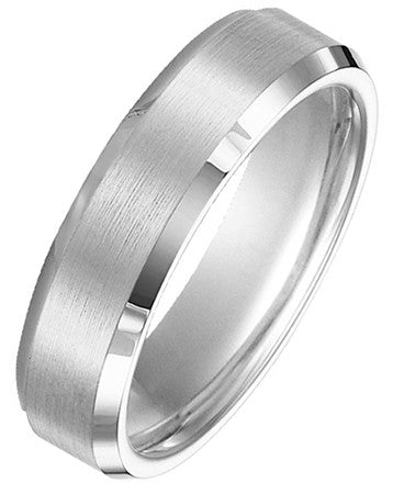 Gent's Black Tungsten Wedding Band Size 10
