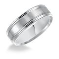 6.5mm Engraved Wedding Band, 14K White Gold