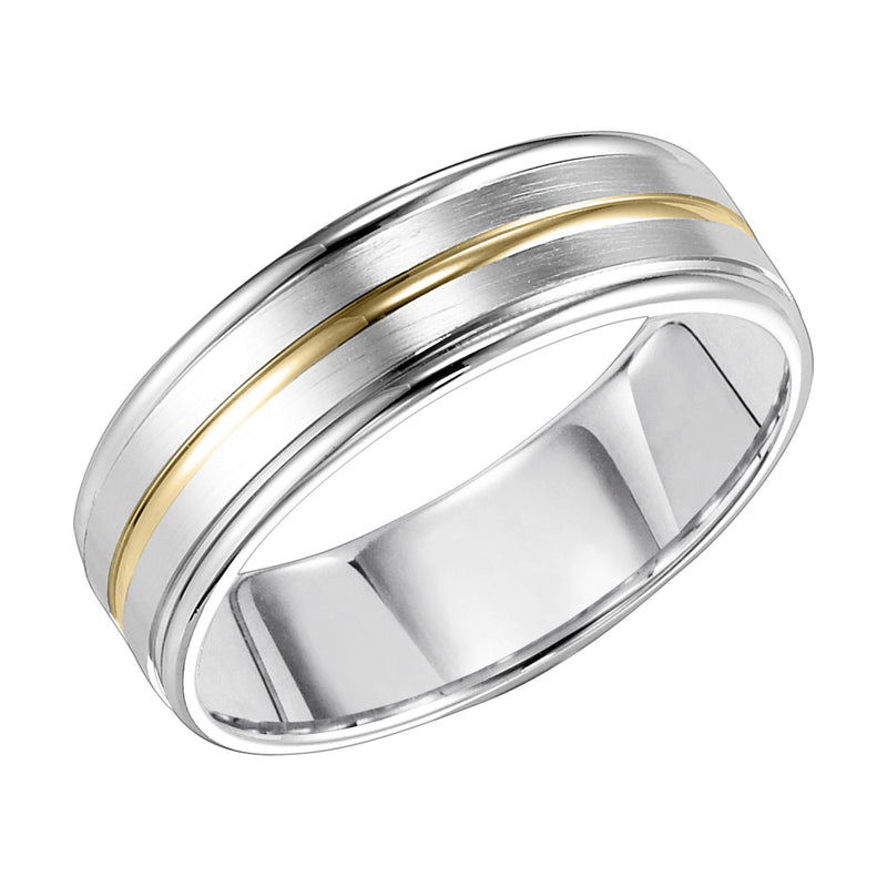 7mm CF Engraved Wed Ring Size 10