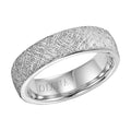 CF Lustre/Rolled Edge Mens Band, 14K White, Size 10