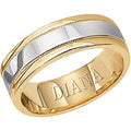 14K T/T Gent's Wedding Band