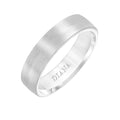 5.5mm Cf Wedding Band, Size 10, 14K White
