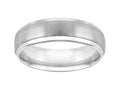 18K White Gold Wedding Band 6.5mm