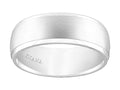 14K White Gold Engraved Ring 8.5mm Size 9.0