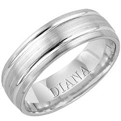 7mm Palladium Wedding Band, Size 10