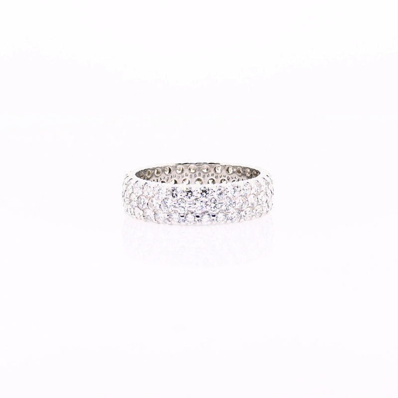 18K White Gold Fashion Eternity Ring