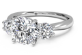 Ritani Three-Stone Diamond Engagement Ring