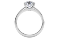 Ritani Solitaire Semi-Bezel-Set Diamond Engagement Ring