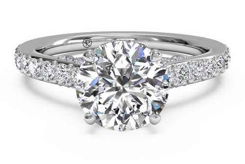 Ritani French-Set Diamond Band Engagement Ring