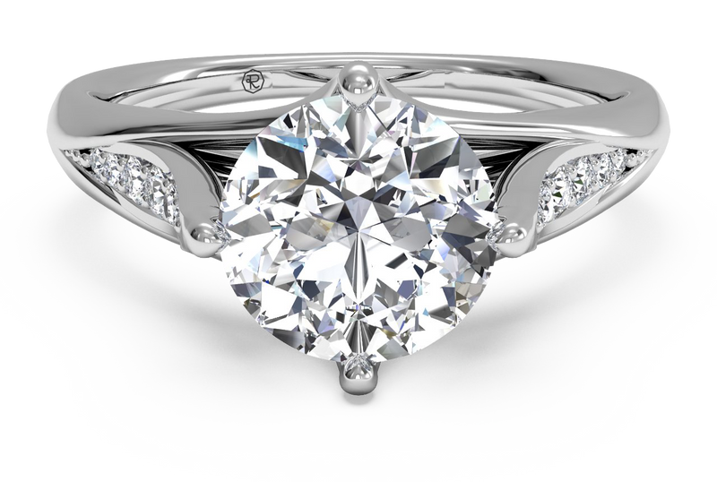 Ritani Vintage Tulip Diamond Band Engagement Ring