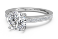 Ritani Diamond Micropavé Band Engagement Ring