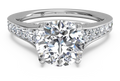 Ritani Tapered Pavé Diamond Band Engagement Ring