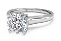 Ritani Solitaire Diamond Engagement Ring with Surprise Diamonds