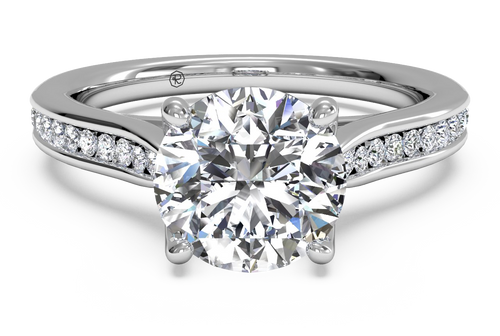 Ritani Channel-Set Diamond Engagement Ring with Surprise Diamonds