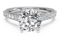 Ritani French-Set Diamond Band Engagement Ring with Surprise Diamonds