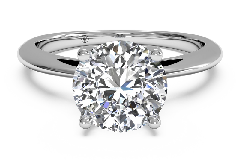 Ritani Solitaire Diamond Embellished Prong Engagement Ring