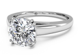 Ritani Solitaire Diamond Cathedral Tulip Engagement Ring