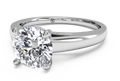 Ritani Solitaire Diamond Cathedral Engagement Ring with Surprise Diamonds