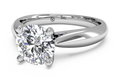Ritani Solitaire Diamond Cathedral Tapered Engagement Ring