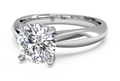 Ritani Solitaire Diamond Tapered Engagement Ring with Surprise Diamonds