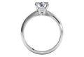 Ritani Solitaire Diamond Knife-Edge Engagement Ring with Surprise Diamonds
