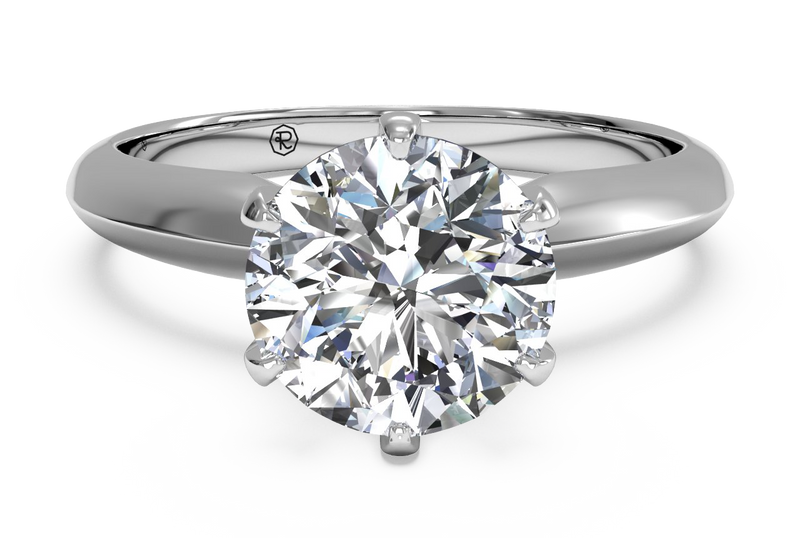 Ritani Solitaire Diamond Six-Prong Knife-Edge Engagement Ring