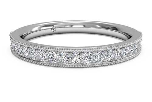 Ritani Women's Diamond Milgrain Wedding Band