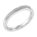 Lady's White 14 Karat Wedding Band With 0.12tw Round Diamonds