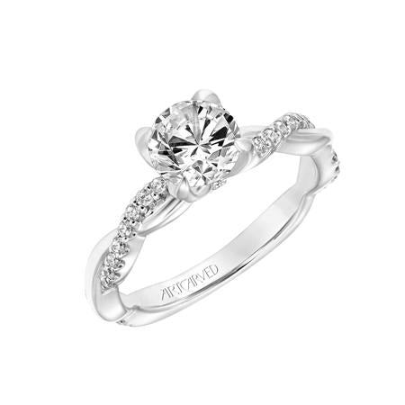 "ArtCarved ""Daffodil"" Engagement Ring"